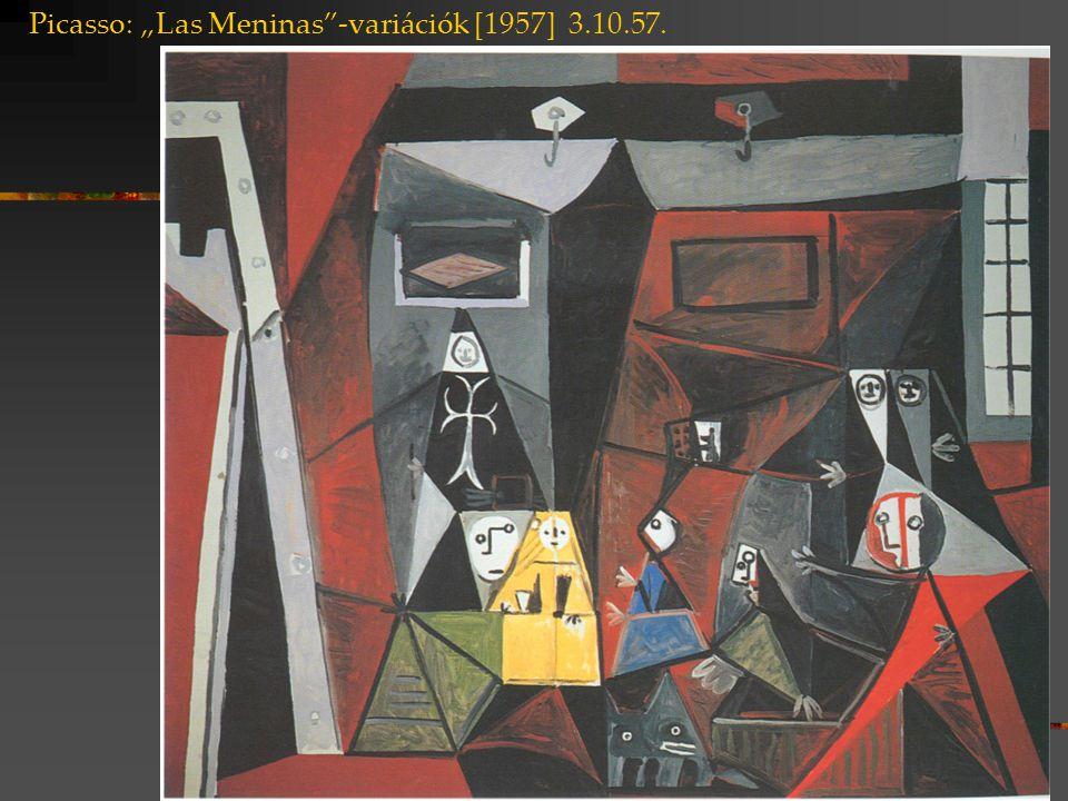 """Picasso: """"Las Meninas -variációk [1957] 3.10.57."""